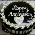 Happy Wedding Anniversary Cake Status