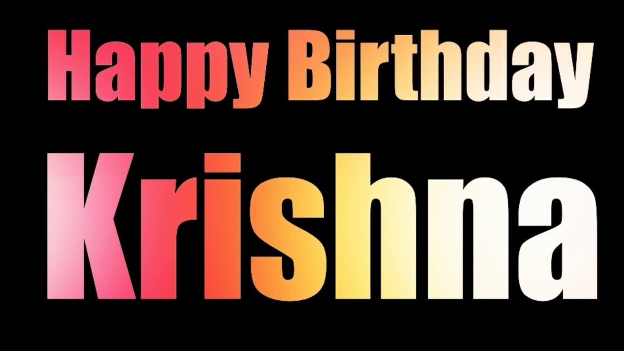 happy birthday krishna ji status