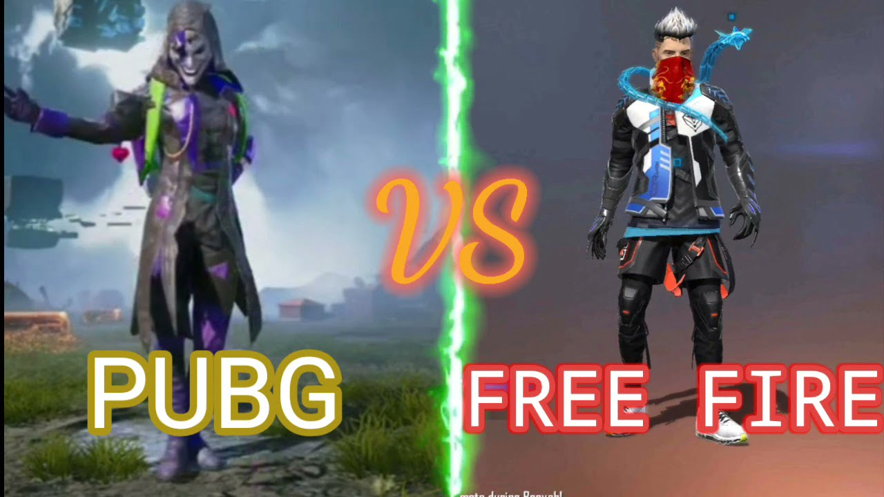 free fire vs pubg status