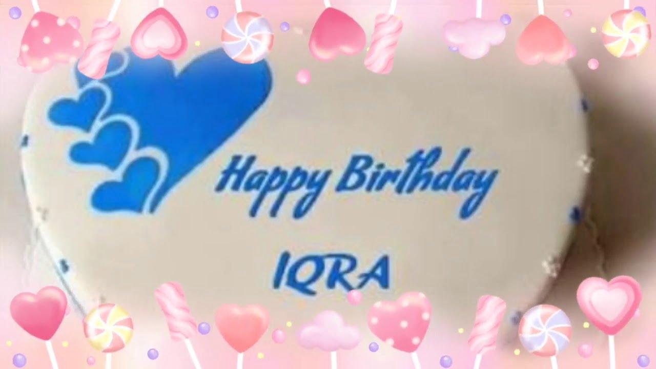 Happy Birthday Iqra Status