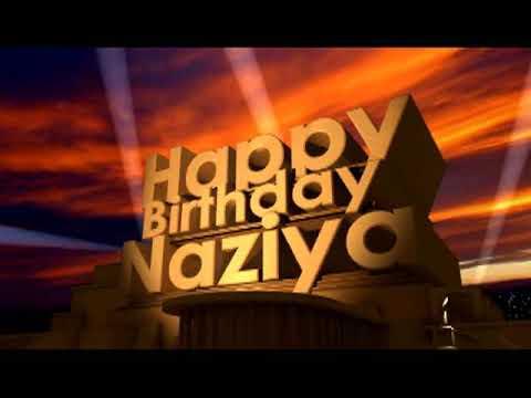 happy birthday naziya status