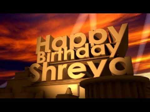 happy birthday shreya status