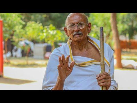 mahatma gandhi birthday status in hindi
